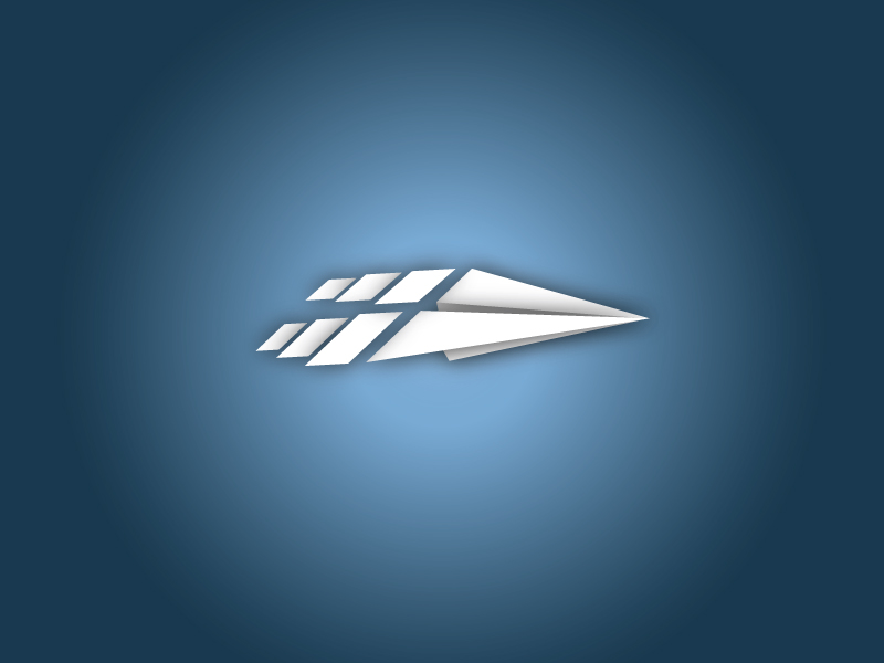 Paper Airplane Clouds Logo | The Portfolio of